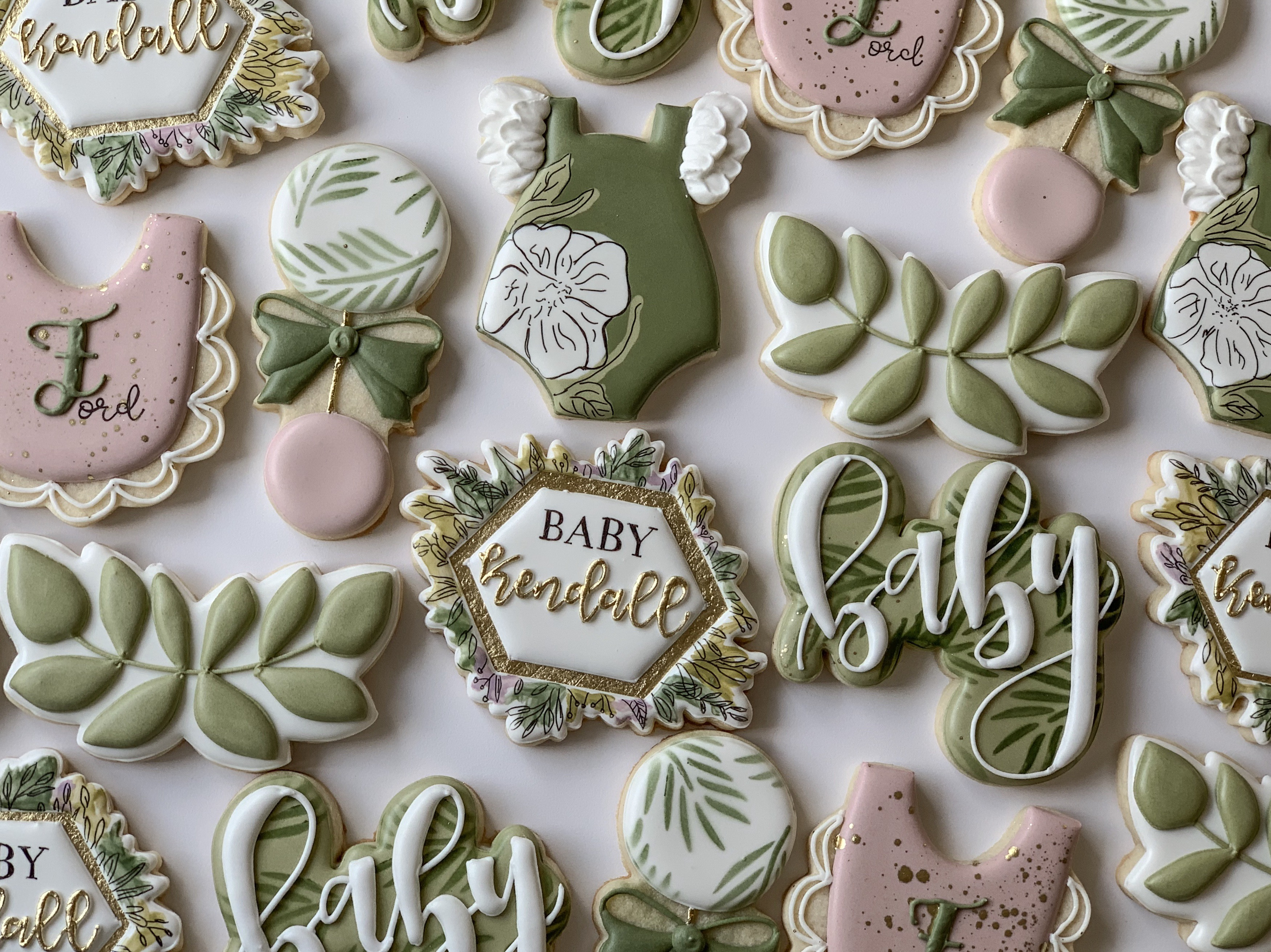 greenery cookies